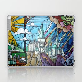 Hogwarts stained glass style Laptop & iPad Skin