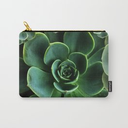 JADE GREEN SUCCULENT ROSETTES DESIGN Carry-All Pouch