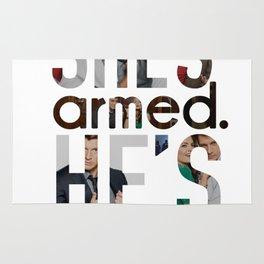She's armed. He's dangerous. Rug