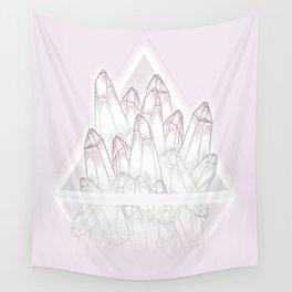 Crystals - Pink Wall Tapestry