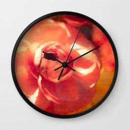 Orange Ranunc Wall Clock