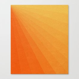 Shades of Sun - Line Gradient Pattern between Light Orange and Pale Orange Canvas Print