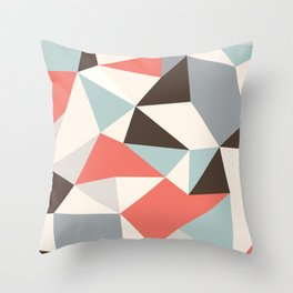 Mod Hues Tris Throw Pillow