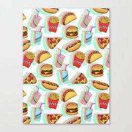 Rainbow Fast Food Canvas Print