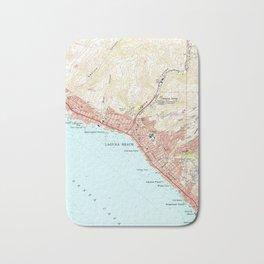 Vintage Map of Laguna Beach California (1965) Bath Mat
