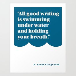 Fitzgerald on Writing Art Print
