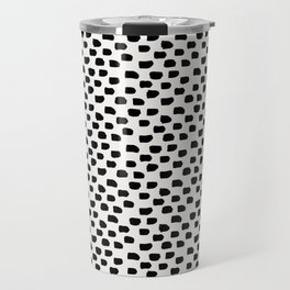 Black Brush Strokes Travel Mug