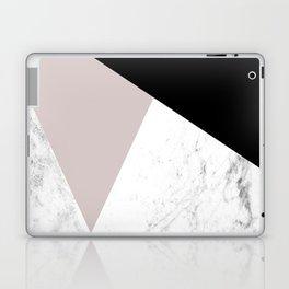 Pink, Black and Marble Geometric Laptop & iPad Skin