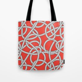 Red Rope Pattern Tote Bag