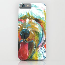 Soft-Coated Wheaten Terrier // Colorful  iPhone Case