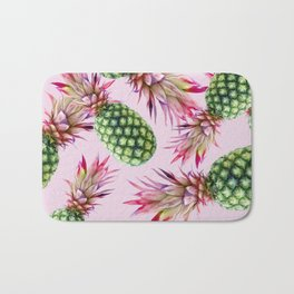 Pinapples on pink Bath Mat