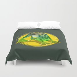 Yoga Downward Facing Frog Duvet Cover