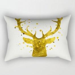 Gold Deer Rectangular Pillow