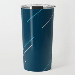 Run - Teal and Silver Geometric Type (Dark) Travel Mug
