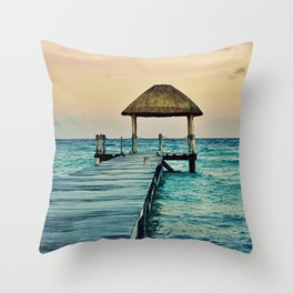 Mexico Sunset Throw Pillow