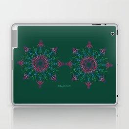 Breathe In & Out Mandala x2 - Green Laptop & iPad Skin