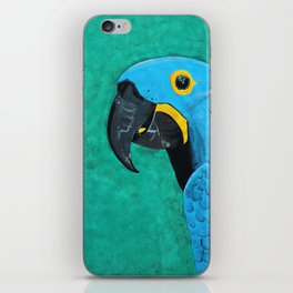 Hyacinth Macaw Gouache Painting iPhone Skin