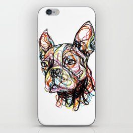 French Bulldog line style - bulldog francese - bouledogue français - bulldog francés iPhone Skin