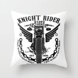Biker Rider - Ride OR Die - Biker saying quote Throw Pillow