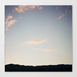 No greater solace than the mountains above Canvas Print