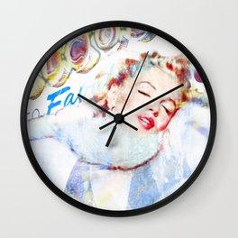 Marilyn in Las Vegas Wall Clock