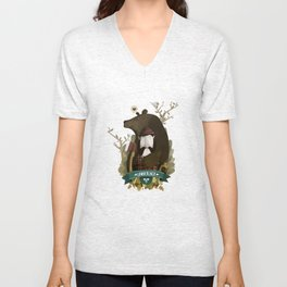 THE LUMBERJACK AND BEAR Unisex V-Neck