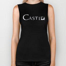 Castiel with Feather White Biker Tank
