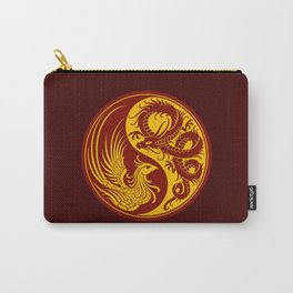 Yellow and Red Dragon Phoenix Yin Yang Carry-All Pouch