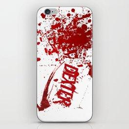 Dexter blood spatter iPhone Skin