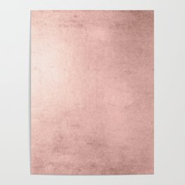 Blush Rose Gold Ombre Poster