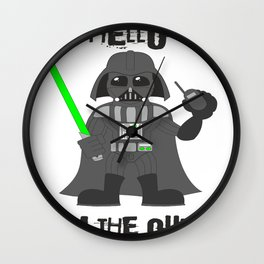 Darth Quotes Adele Wall Clock