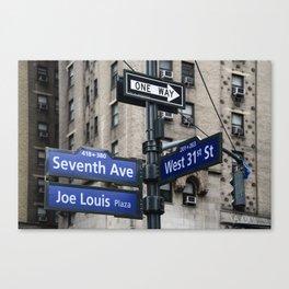 New York City Street Names Canvas Print