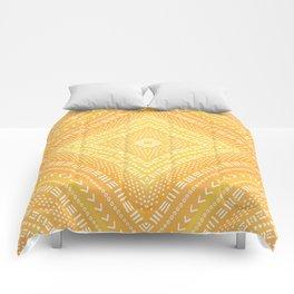 Yellow Boho Kaleidoscope Comforters