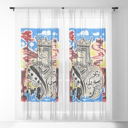 King Of Cards Sheer Curtain