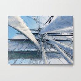Nautical Sailing Adventure Metal Print