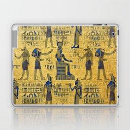 Vintage Egyptian Ornament with Lapiz Lazuli Laptop & iPad Skin