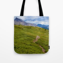 Views Along the Wilcox Pass Trail in Jasper National Park, Canada Tote Bag