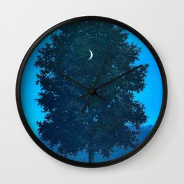 Rene Magritte - Le Seize Septembre - 1956 Moon Through Tree Surrealism Wall Clock