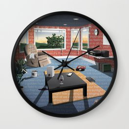 "Hippo Campus - ""Landmark"" Lyrics Wall Clock"