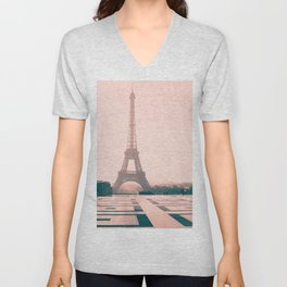 Eiffel tower in the early morning Unisex V-Neck