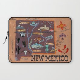 New Mexico map Laptop Sleeve