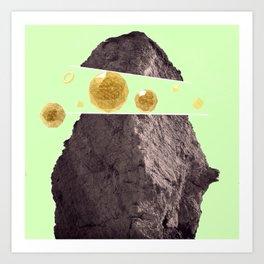Abstract Gold Art Print