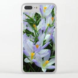 Lavender Crocus Clear iPhone Case