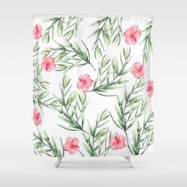 Delicate Hibiscus Shower Curtain