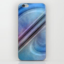 Abstract pattern blue and purple iPhone Skin