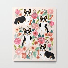 Welsh Corgi tri colored cardigan corgi dog breed must have corgi gifts for dog person pet friendly Metal Print