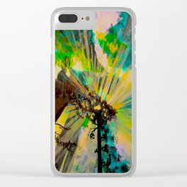 Rays through redwood forest Clear iPhone Case