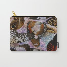 Colorful Butterfly Wing Mosaic Collage Carry-All Pouch
