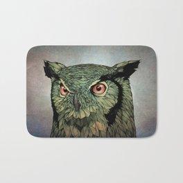 Owl - Red Eyes Bath Mat