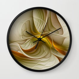 Abstract With Colors Of Precious Metals, Fractal Art Wall Clock